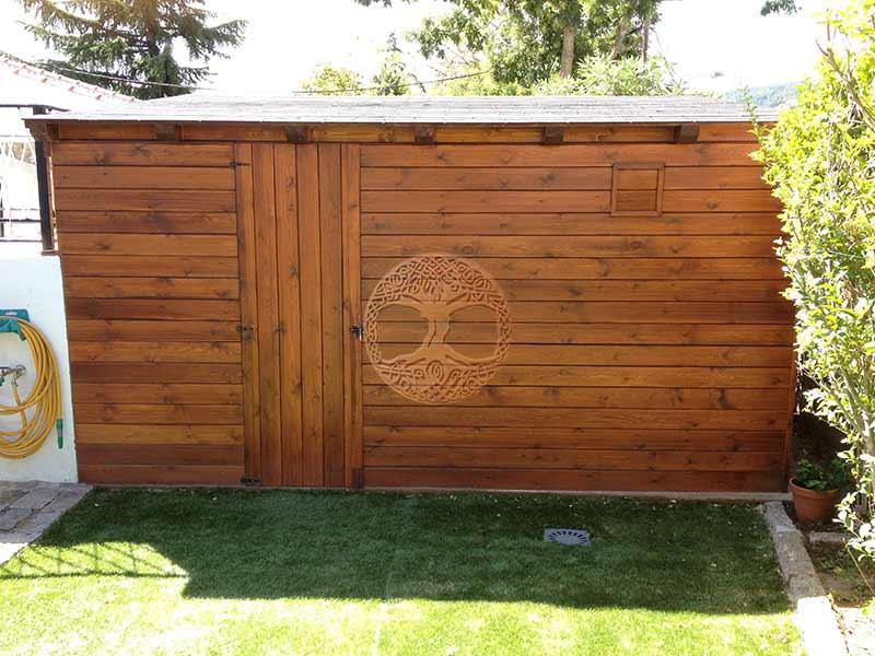 Casetas de madera en madrid armarios de madera para exterior for Caseta madera exterior