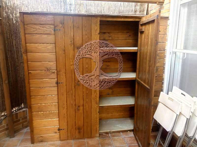 Armarios de madera para exterior gallery of cargando zoom - Armario exterior madera ...