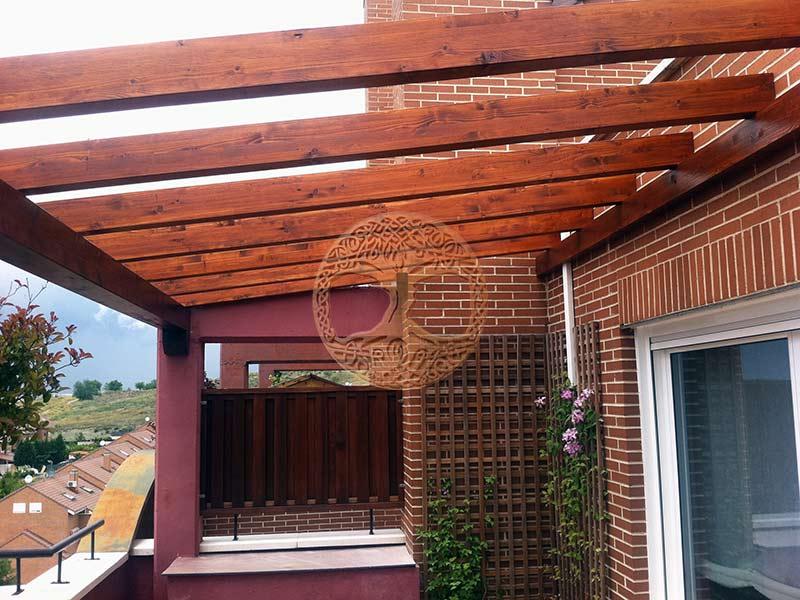 Pergolas de madera madrid precio pergolas desde 50 m2 for Precio zapateros de madera