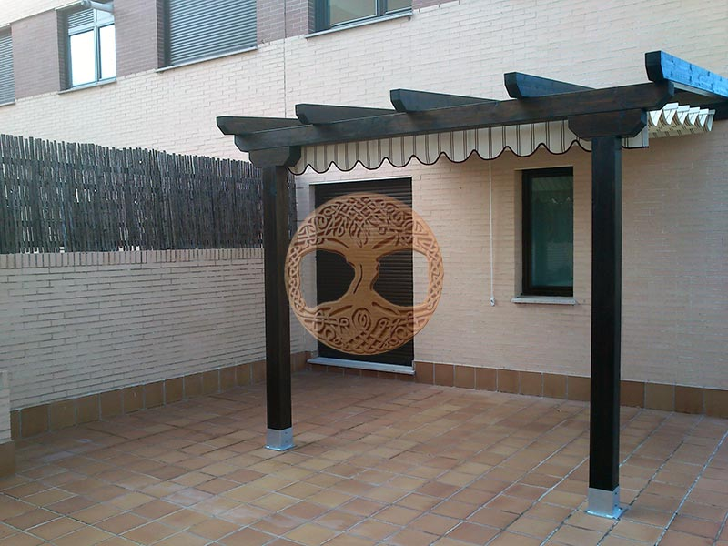 21 creative bases para pergolas de madera for Bases para pergolas