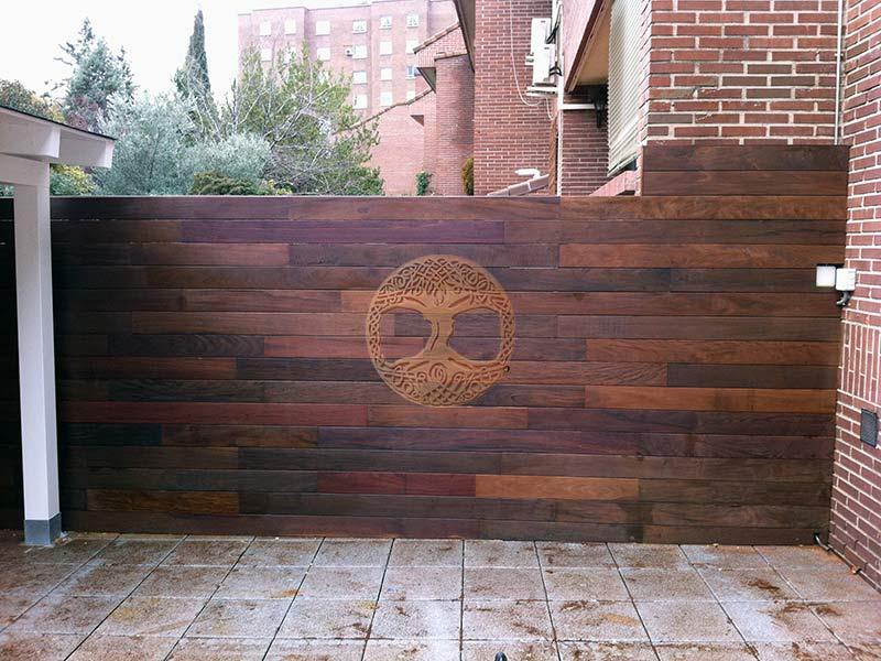 Vallas de madera en madrid desde 60 el m2 for Vallas de hierro para jardin